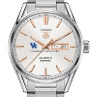 University of Kentucky Men's TAG Heuer Day/Date Carrera with Silver Dial & Bracelet