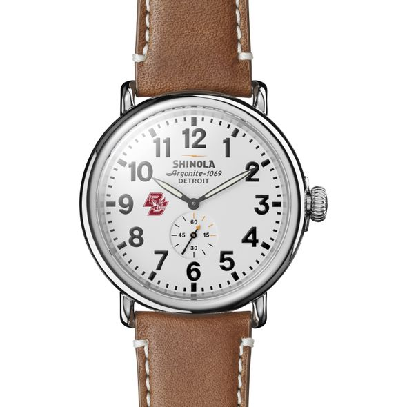 Boston College Shinola Watch, The Runwell 47mm White Dial - Image 2