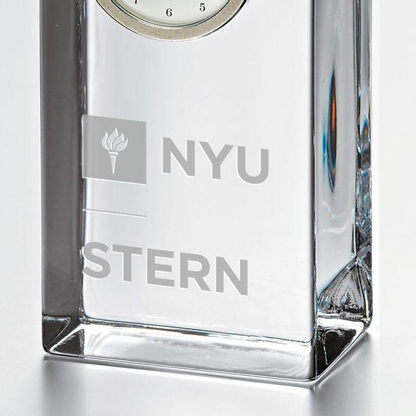 NYU Stern Tall Glass Desk Clock by Simon Pearce - Image 2