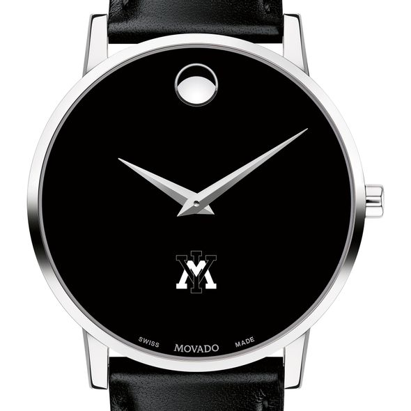 Virginia Military Institute Men's Movado Museum with Leather Strap - Image 1