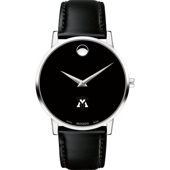 Virginia Military Institute Men's Movado Museum with Leather Strap - Image 2