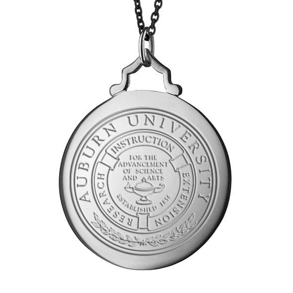 Auburn Monica Rich Kosann Round Charm in Silver with Stone - Image 2