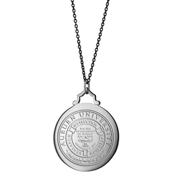 Auburn Monica Rich Kosann Round Charm in Silver with Stone - Image 3