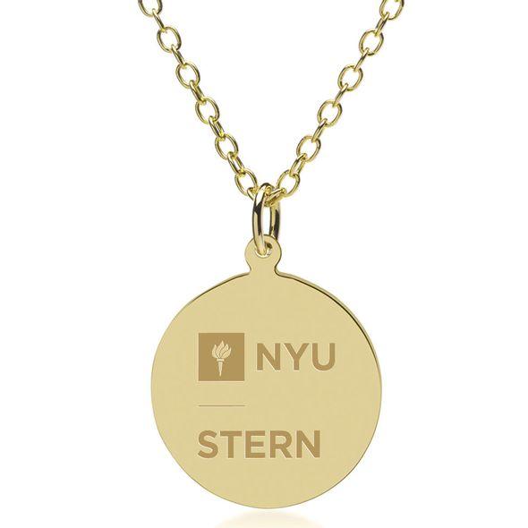 NYU Stern 18K Gold Pendant & Chain - Image 1