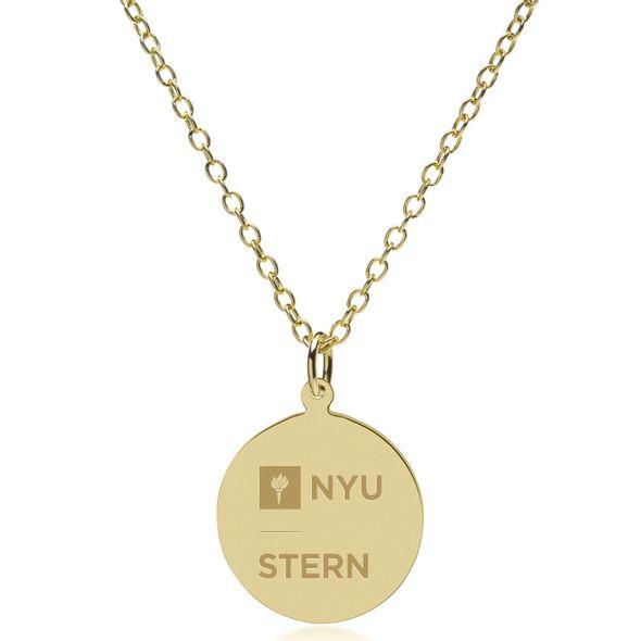 NYU Stern 18K Gold Pendant & Chain - Image 2