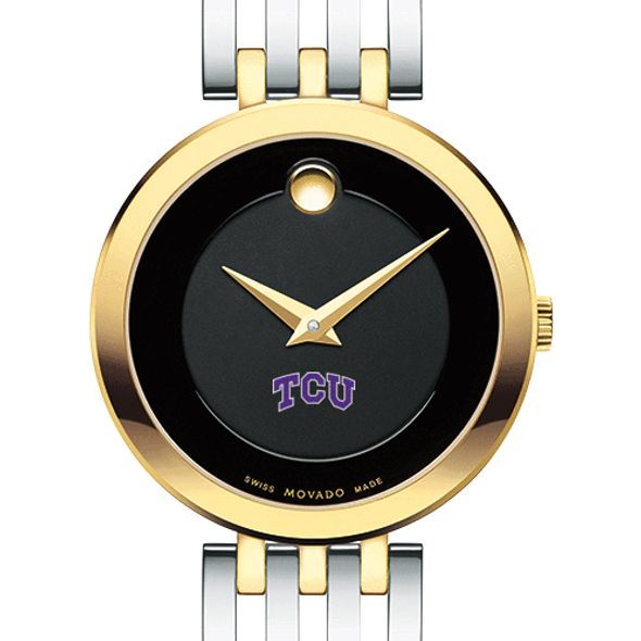 Texas Christian University Women's Movado Esparanza Two-Tone Museum with Bracelet