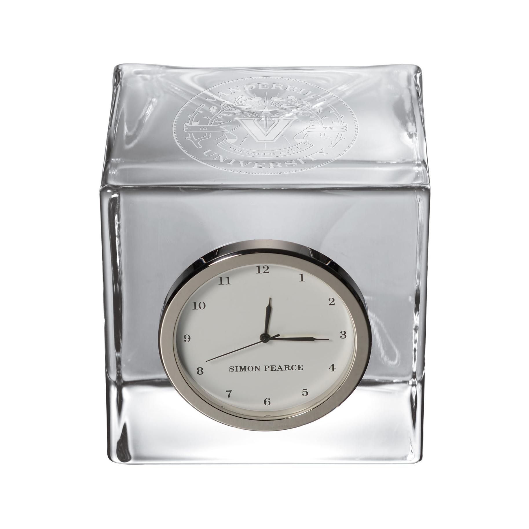 Vanderbilt Glass Desk Clock by Simon Pearce
