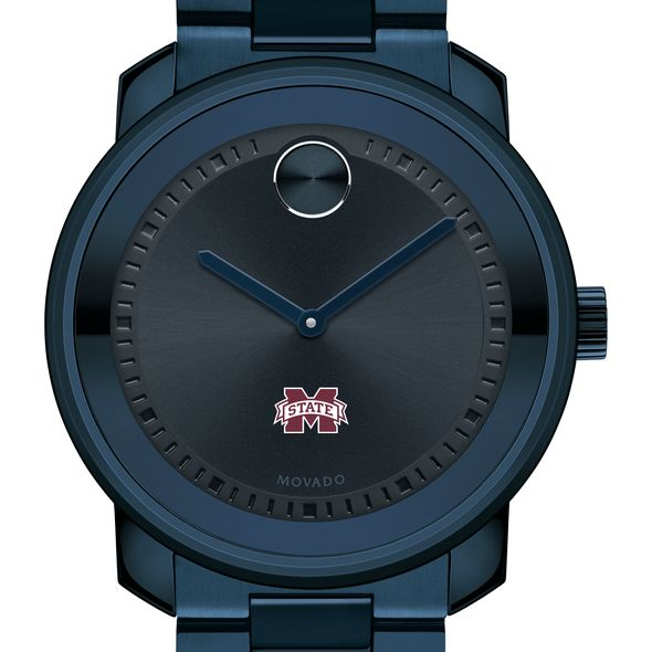 Mississippi State Men's Movado BOLD Blue Ion with Bracelet
