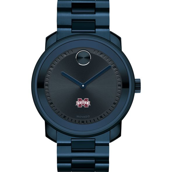 Mississippi State Men's Movado BOLD Blue Ion with Bracelet - Image 2