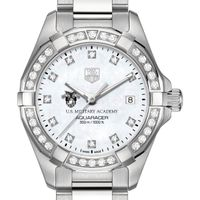 US Military Academy W's TAG Heuer Steel Aquaracer with MOP Dia Dial & Bezel