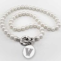 Villanova Pearl Necklace with Sterling Silver Charm
