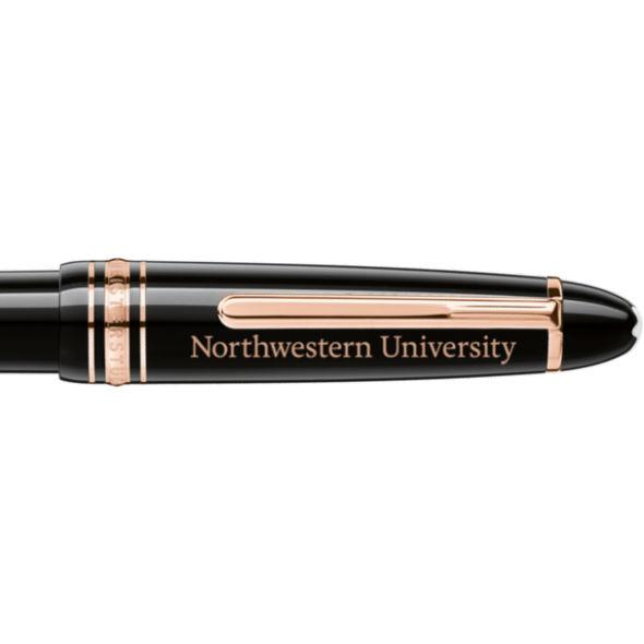 Northwestern University Montblanc Meisterstück LeGrand Ballpoint Pen in Red Gold - Image 2