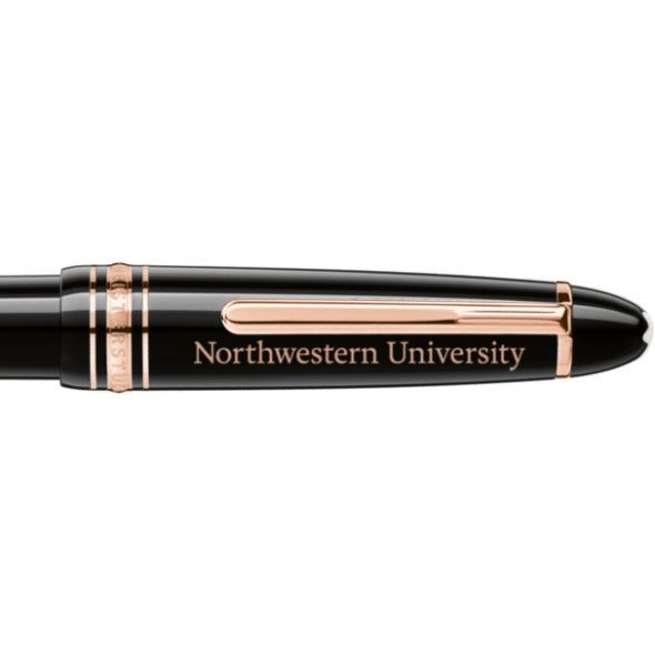 Northwestern University Montblanc Meisterstück LeGrand Ballpoint Pen in Red Gold - Image 2