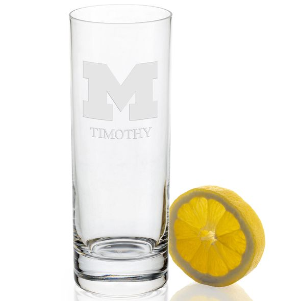 University of Michigan Iced Beverage Glasses - Set of 2 - Image 2