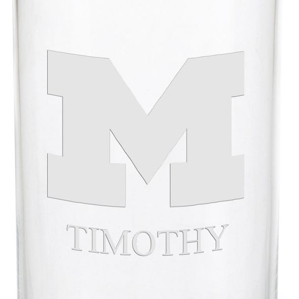 University of Michigan Iced Beverage Glasses - Set of 2 - Image 3