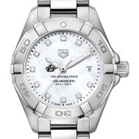 Oklahoma State Women's TAG Heuer Steel Aquaracer with MOP Diamond Dial