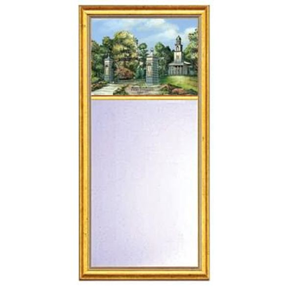 Emory Eglomise Mirror with Gold Frame