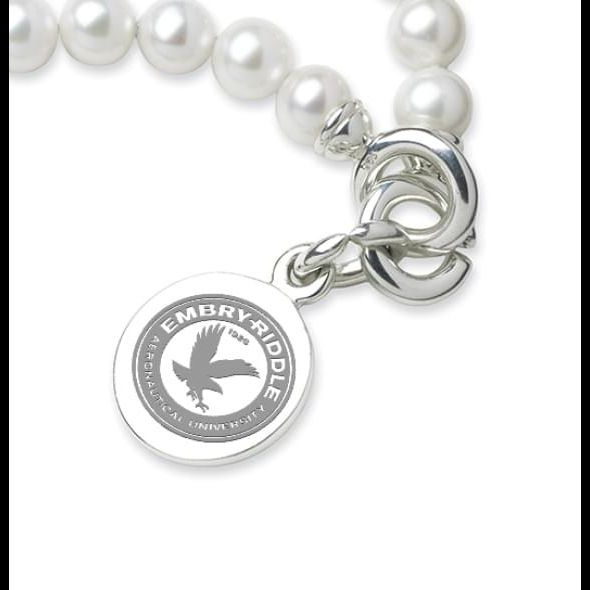 Embry-Riddle Pearl Bracelet with Sterling Silver Charm - Image 2