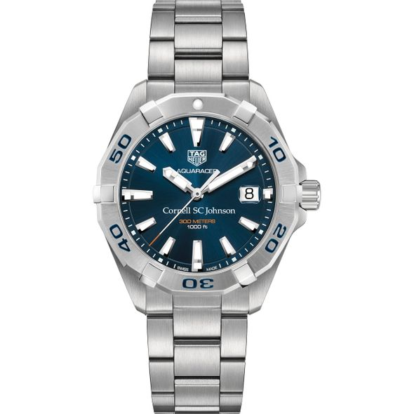 SC Johnson College Men's TAG Heuer Steel Aquaracer with Blue Dial - Image 2