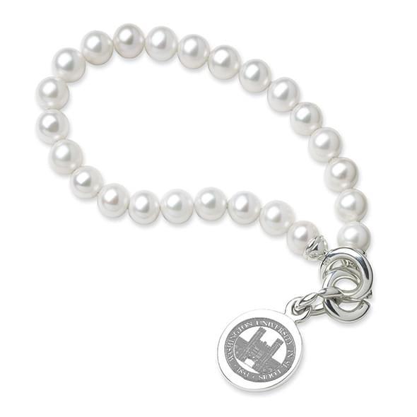 WUSTL Pearl Bracelet with Sterling Charm