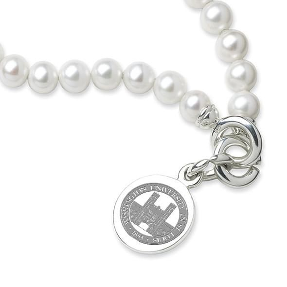 WashU Pearl Bracelet with Sterling Silver Charm - Image 2