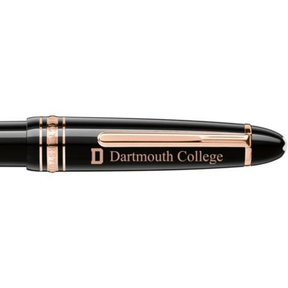 Dartmouth College Montblanc Meisterstück LeGrand Ballpoint Pen in Red Gold - Image 2