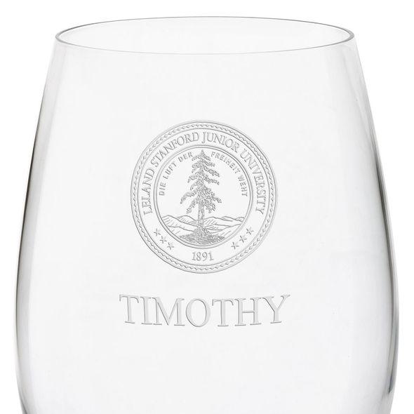 Stanford University Red Wine Glasses - Set of 4 - Image 3