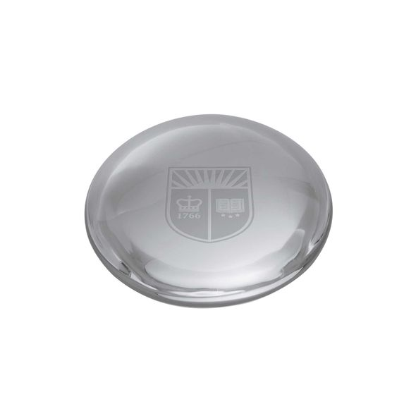 Rutgers University Glass Dome Paperweight by Simon Pearce