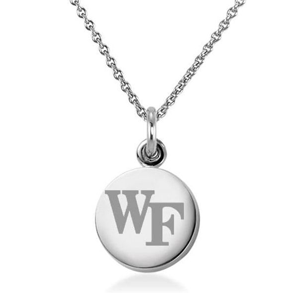 Wake Forest University Necklace with Charm in Sterling Silver