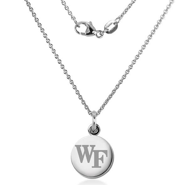 Wake Forest University Necklace with Charm in Sterling Silver - Image 2
