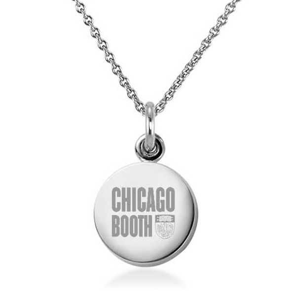 Chicago Booth Necklace with Charm in Sterling Silver