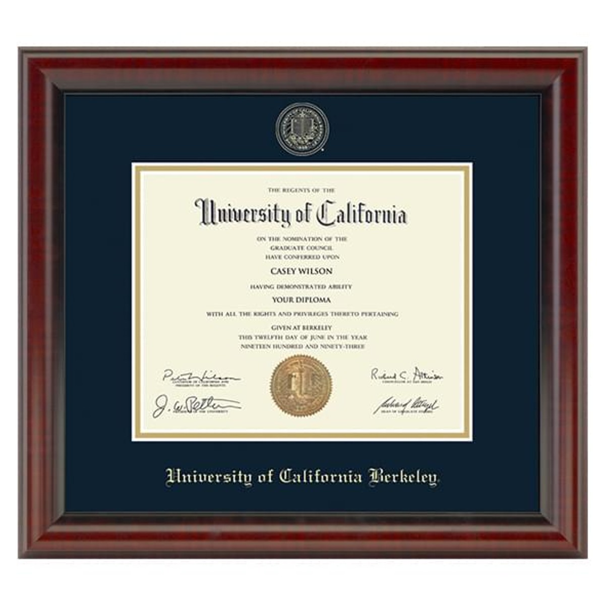 Official Berkeley Diploma Frame The Fidelitas
