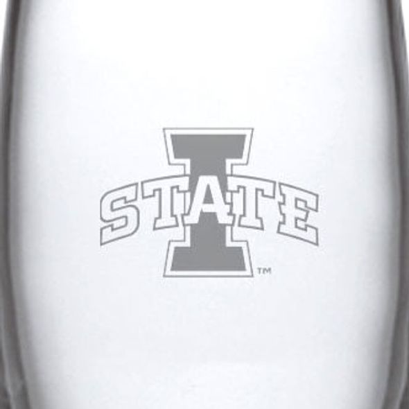 Iowa State University Glass Addison Vase by Simon Pearce - Image 2