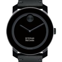 Texas McCombs Men's Movado BOLD with Leather Strap
