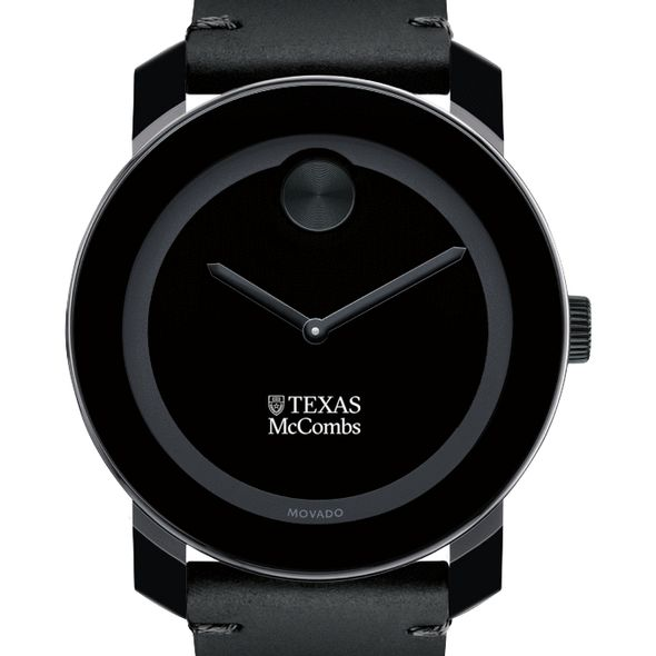 Texas McCombs Men's Movado BOLD with Leather Strap - Image 1