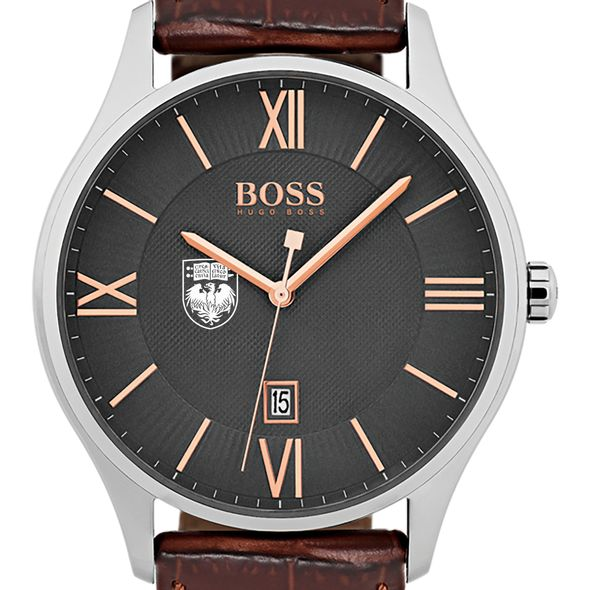 University of Chicago Men's BOSS Classic with Leather Strap from M.LaHart
