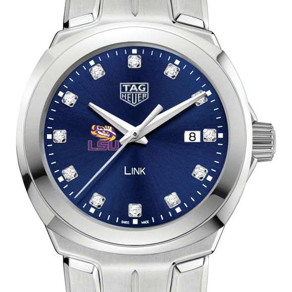 Louisiana State University Women's TAG Heuer Link with Blue Diamond Dial