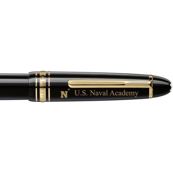 US Naval Academy Montblanc Meisterstück LeGrand Rollerball Pen in Gold - Image 2