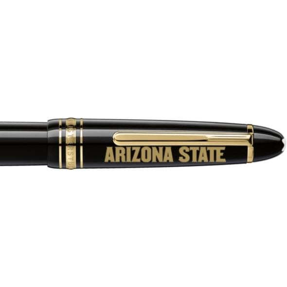 Arizona State Montblanc Meisterstück LeGrand Rollerball Pen in Gold - Image 2