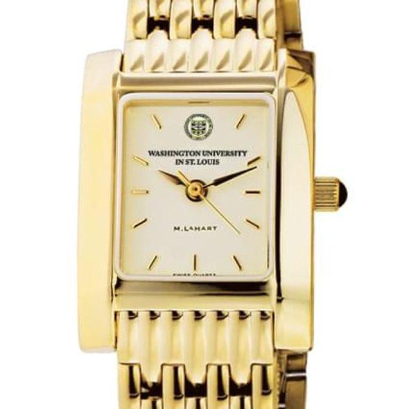 WUSTL Women's Gold Quad Watch with Bracelet