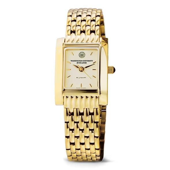 WUSTL Women's Gold Quad Watch with Bracelet - Image 2