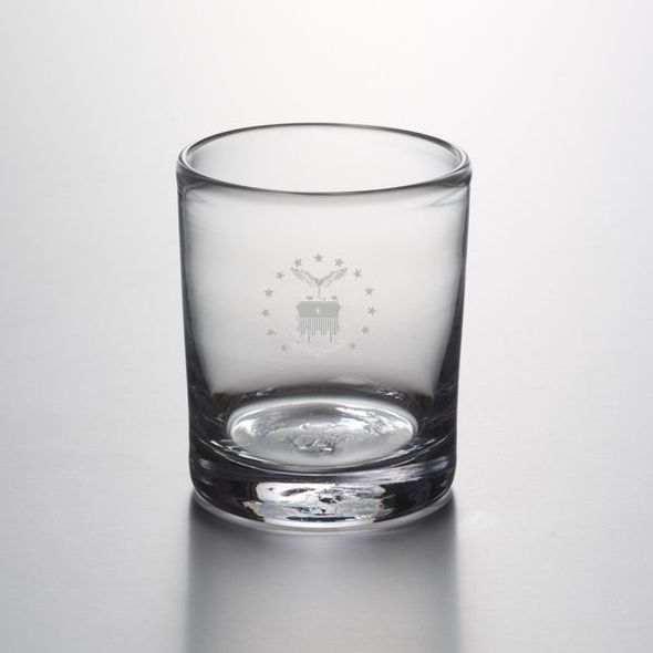 USAFA Double Old Fashioned Glass by Simon Pearce
