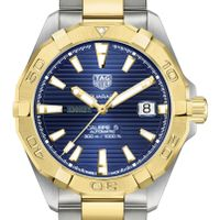 Emory Men's TAG Heuer Automatic Two-Tone Aquaracer with Blue Dial