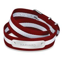 Harvard University Double Wrap NATO ID Bracelet