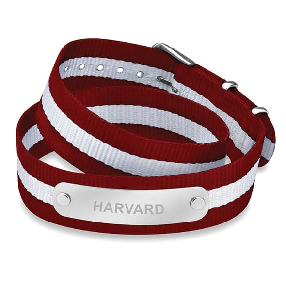 Harvard University Double Wrap NATO ID Bracelet