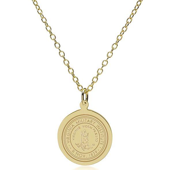 Virginia Military Institute 18K Gold Pendant & Chain - Image 2
