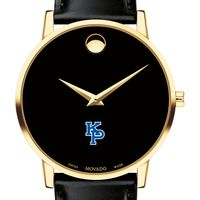 US Merchant Marine Academy Men's Movado Gold Museum Classic Leather