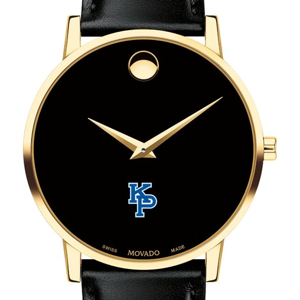 US Merchant Marine Academy Men's Movado Gold Museum Classic Leather - Image 1