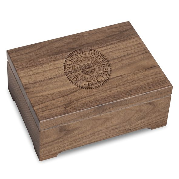 Arizona State Solid Walnut Desk Box