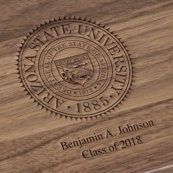 Arizona State Solid Walnut Desk Box - Image 3